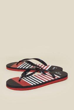 Zudio Black Tropical Flip-Flops