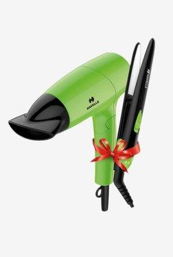 Havells HC4035 Hair Straightener + Hair Dryer Combo (Green)
