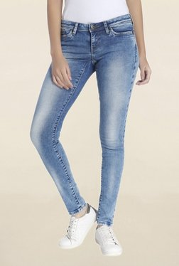 Vero Moda Light Blue Slim Fit Low Rise Jeans