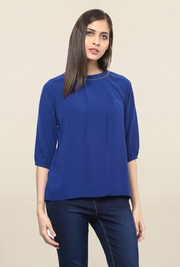 109 F Navy Round Neck Top