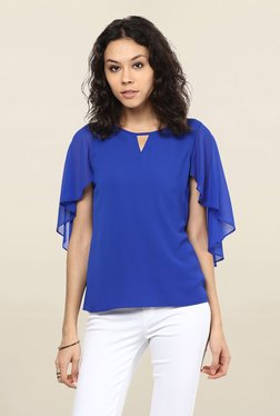 109 F Blue Round Neck Top