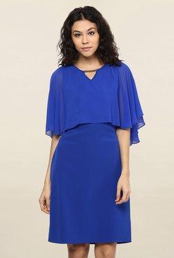 109 F Blue Regular Fit Knee Length Dress