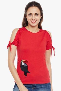 MEEE Red Printed Top