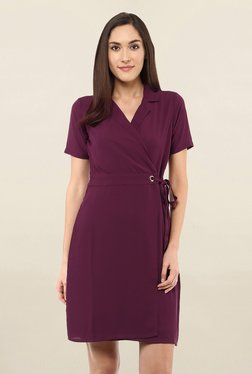 e286d796a2e 109 F Purple Regular Fit Knee Length Dress