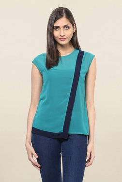 109 F Teal Round Neck Top
