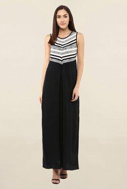 109 F Black & White Printed Maxi Dress