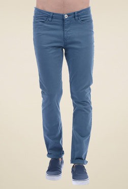 Pepe Jeans Blue Slim Fit Cotton Chinos
