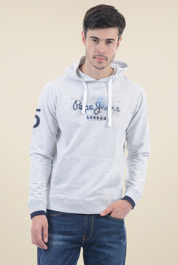 Pepe Jeans Light Grey Printed Cotton Sweatshirt