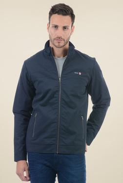Pepe Jeans Dark Blue Regular Fit Cotton Jacket