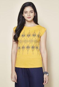 Zudio Yellow Pure Cotton Slim Fit Top