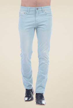 Pepe Jeans Sky Blue Slim Fit Cotton Jeans