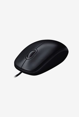 Logitech B100 Wired Optical Mouse (Black)