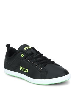 Fila Bertano Black & Lime Green Sneakers