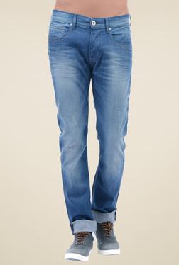 Pepe Jeans Blue Slim Fit Distressed Jeans