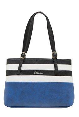 Esbeda Blue & White Striped Shoulder Bag