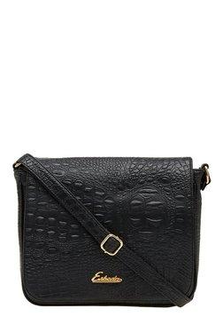 Esbeda Black Textured Sling Bag