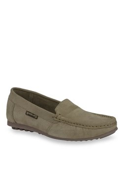 Woodland Khaki Casual Loafers