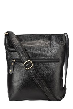 Teakwood Leathers Black Solid Sling Bag
