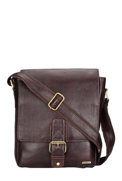 Teakwood Leathers Dark Brown Solid Sling Bag - Mp000000001799657