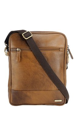 Teakwood Leathers Tan Faded Sling Bag - Mp000000001799687