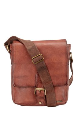 Teakwood Leathers Brown Solid Sling Bag