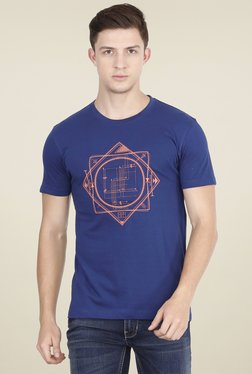 Lee Indigo Slim Fit Printed T-shirt