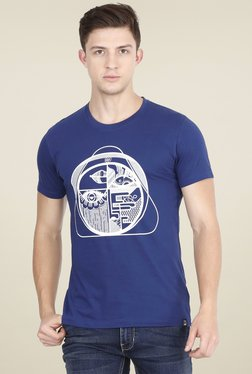 Lee Indigo Slim Fit Printed Cotton T-shirt