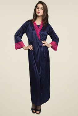 Clovia Navy Round Neck Nighty