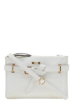 Esbeda Beltlook White Solid Sling Bag