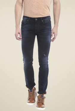Killer Navy Lightly Washed Skinny Fit Low Rise Jeans