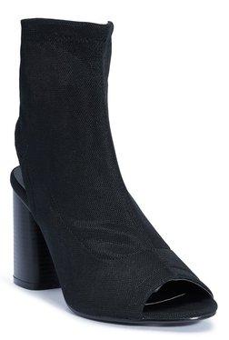 Truffle Collection Black Block Heel Sandals