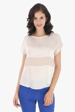 Vero Moda Off White Round Neck Top - Mp000000001808961