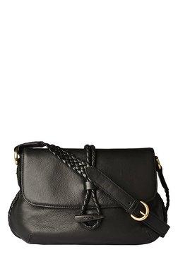 Hidesign Sevruga Black Leather Sling Bag