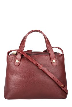 Hidesign Paloma 02 Dark Red Leather Sling Bag