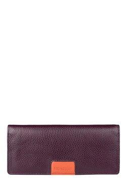 Hidesign Meghan W2 Purple RFID Leather Bi-Fold Wallet