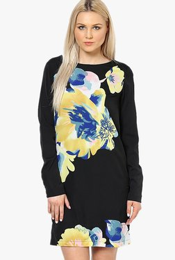 Vero Moda Black Floral Print Above Knee Dress