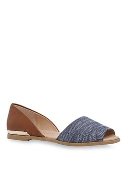 e7b6713787d Call It Spring Chaunte Navy   Brown Peeptoe D orsay Shoes