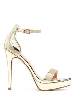 Aldo Madalene Golden Ankle Strap Stilettos
