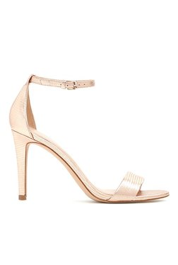Aldo Camy Rose Gold Ankle Strap Stilettos