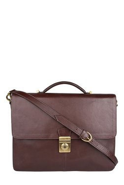 Hidesign Scaffell Pike 03 Brown Leather Laptop Messenger Bag
