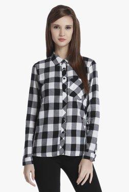 Only Black & Off White Checks Shirt