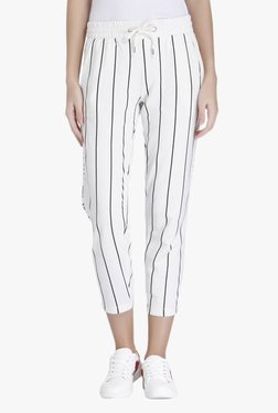 Only White Loose Fit Striped Pants