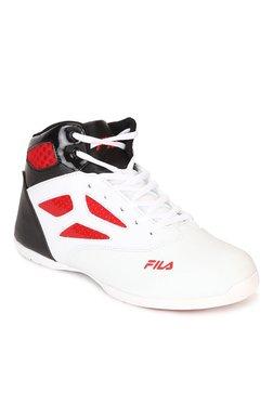 Fila Rim Loop White & Black Basketball Shoes
