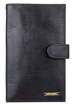 Hidesign 229 1041/2SC Black Textured Leather Passport Wallet