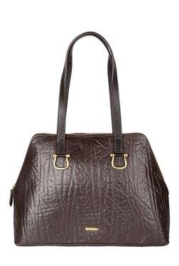 Hidesign Cera 02 Dark Brown Textured Leather Shoulder Bag