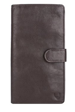 Hidesign 1 Dark Brown Solid Leather Passport Wallet