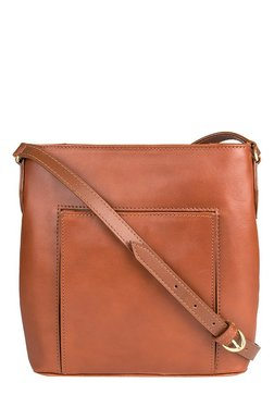 Hidesign Liscio 03 Tan Solid Leather Sling Bag