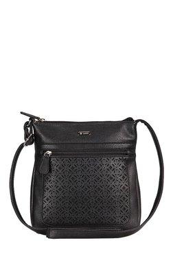 Lavie Dover -1 Black Cut Work Sling Bag