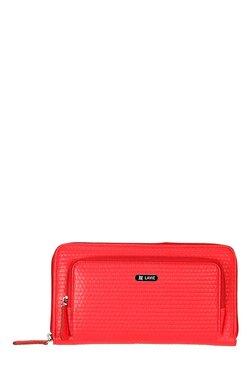 Lavie Linen Red Textured Wallet