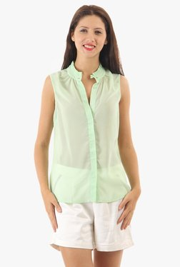 Vero Moda Green Band Neck Shirt